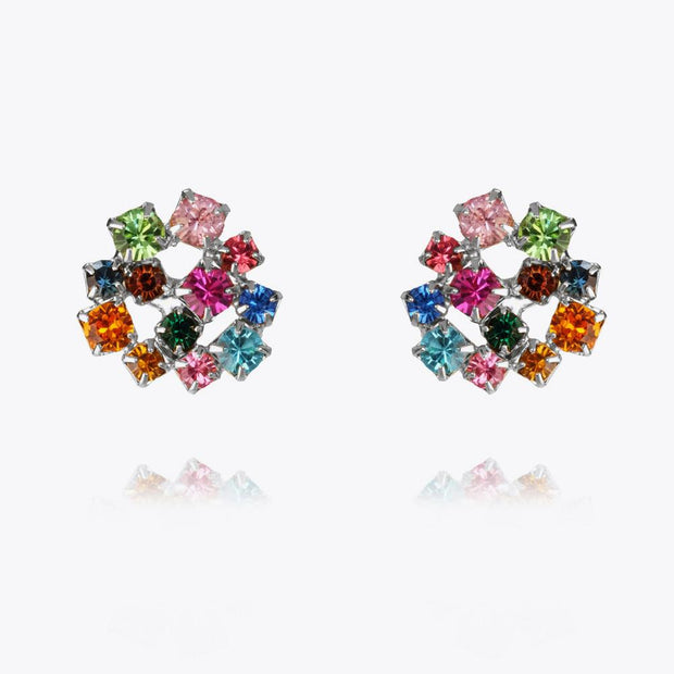 Caroline Svedbom - Kassandra Earrings Rainbow Combo Rhodium