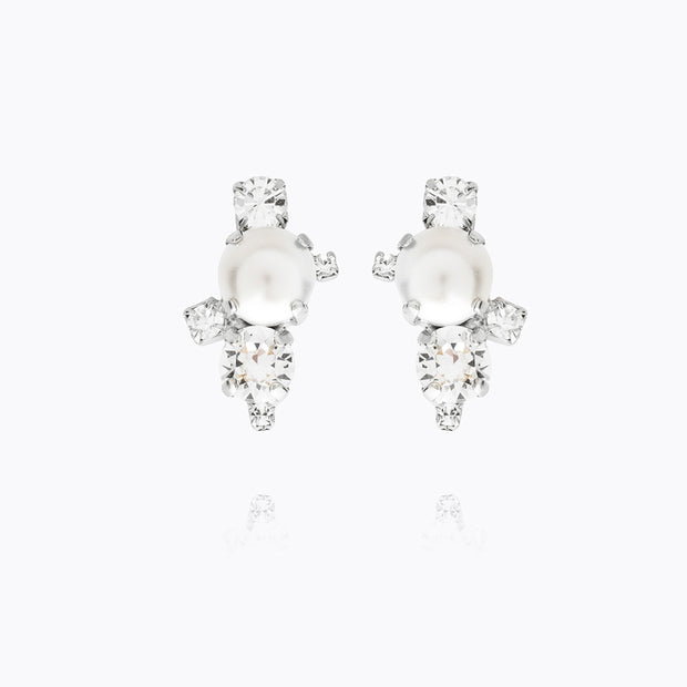 Caroline Svedbom - i Still Do Earring Pearl+crystal 001 Rhodium