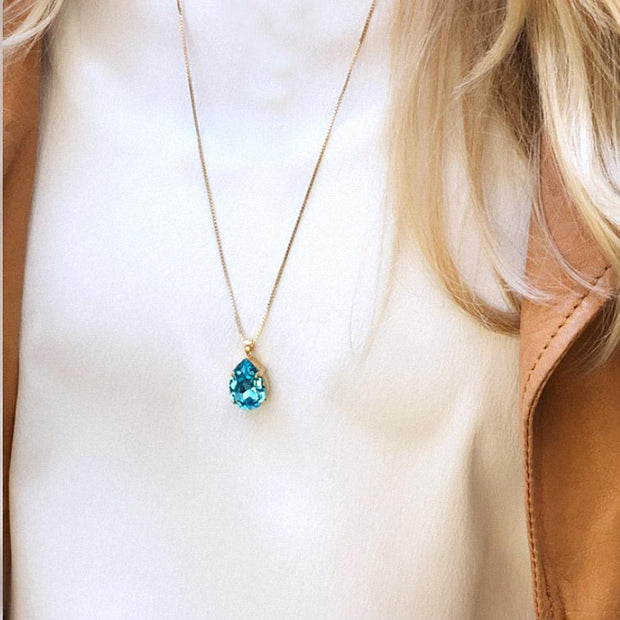 Classic Drop Necklace / Light Turqouise