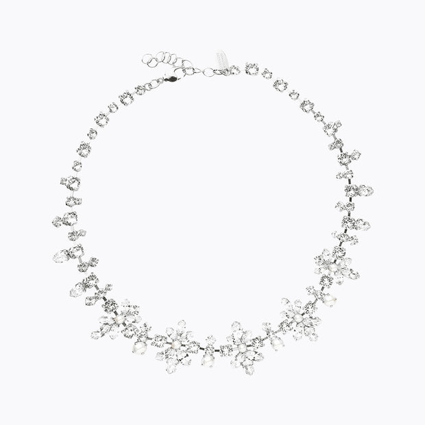 Caroline Svedbom - la Vie En Rose Necklace Pearl+crystal 001 Rhodium