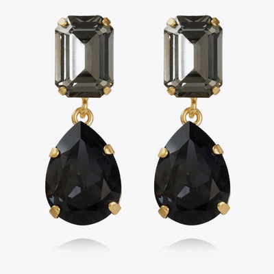 Caroline Svedbom - Lydia Earrings Black Diamond + Graphite Gold