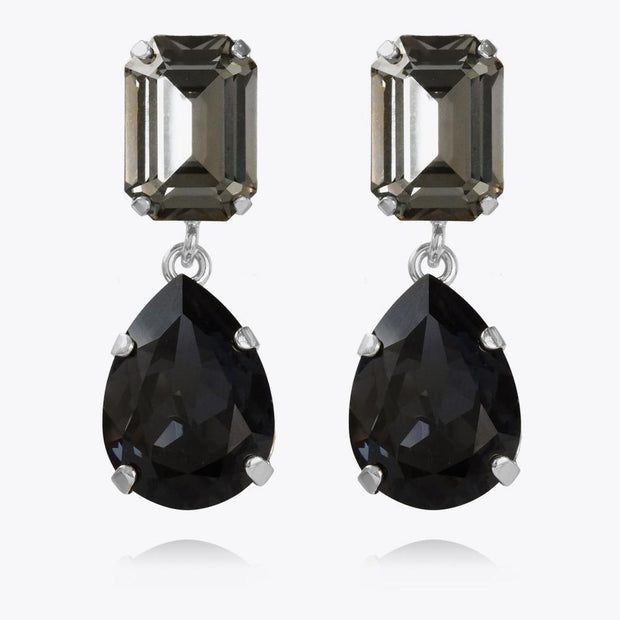 Caroline Svedbom - Lydia Earrings Black Diamond + Graphite Rhodium