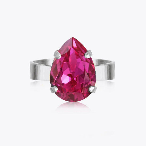 Caroline Svedbom - Mini Drop Ring Fuchsia Rhodium