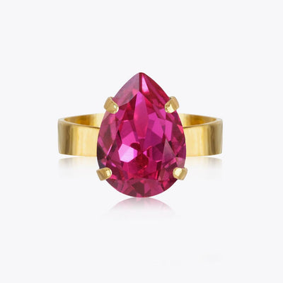 Caroline Svedbom - Mini Drop Ring Fuchsia Gold