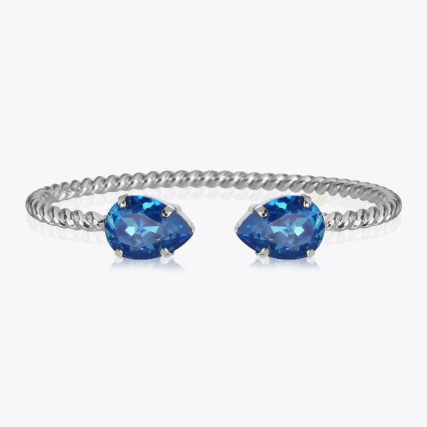 Caroline Svedbom - Mini Drop Bracelet Royal Blue Delite Rhodium