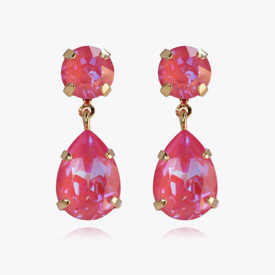 Caroline Svedbom - Mini Drop Earrings Lotus Pink DeliteGold