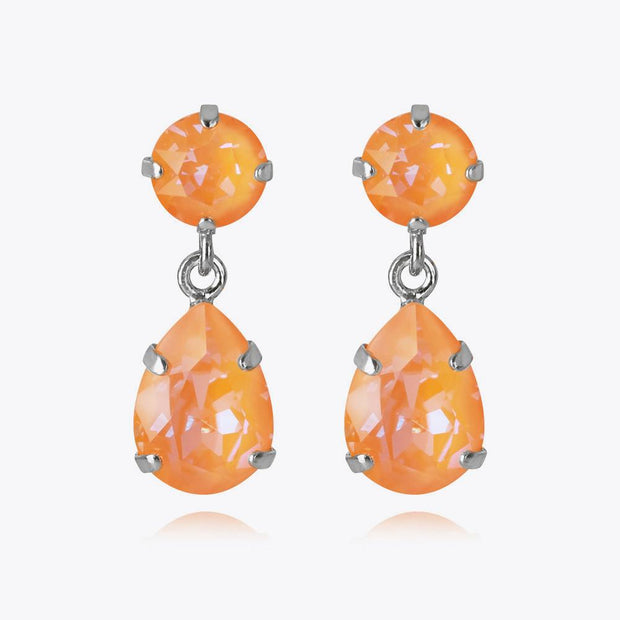 Caroline Svedbom - Mini Drop Earrings Peach Delite Rhodium