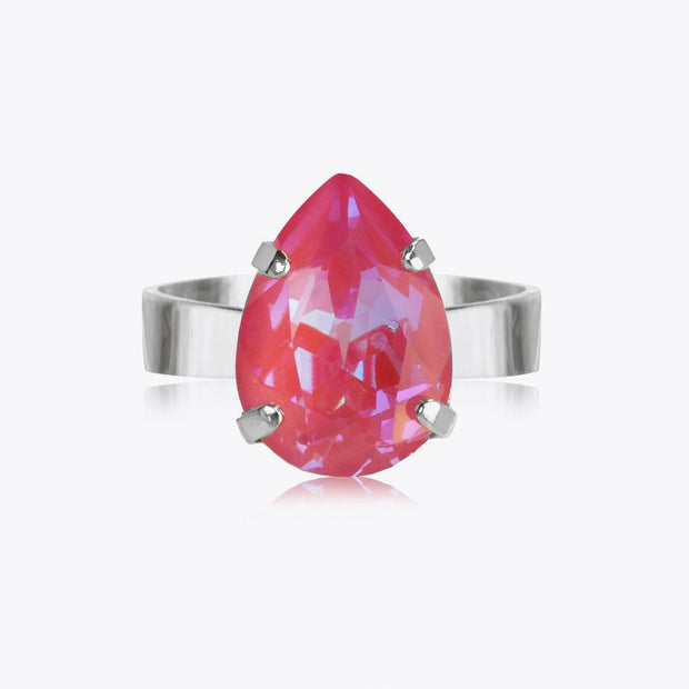 Caroline Svedbom - Mini Drop Ring Lotus Pink Delite Rhodium