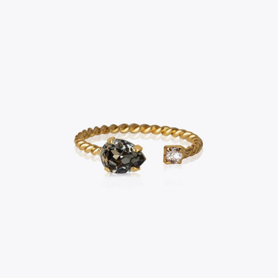 Caroline Svedbom - Nani Ring Black Diamond Gold