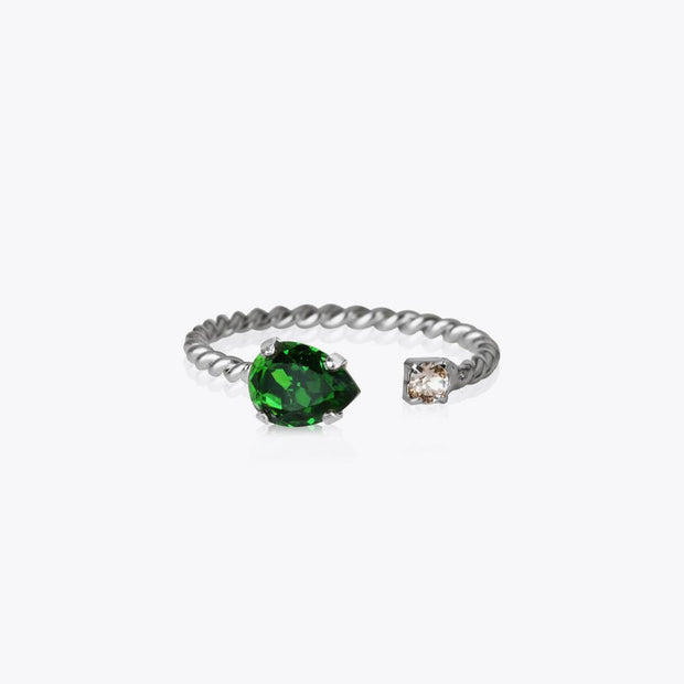 Caroline Svedbom - Nani Ring Fern Green Rhodium