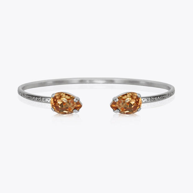 Caroline Svedbom - Petite Drop Bracelet  Light Colorado Topaz Rhodium