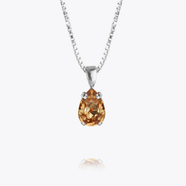 Caroline Svedbom - Petite Drop Necklace Light Colorado Topaz Rhodium