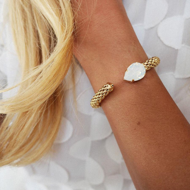 Classic Rope Bracelet / White Opal