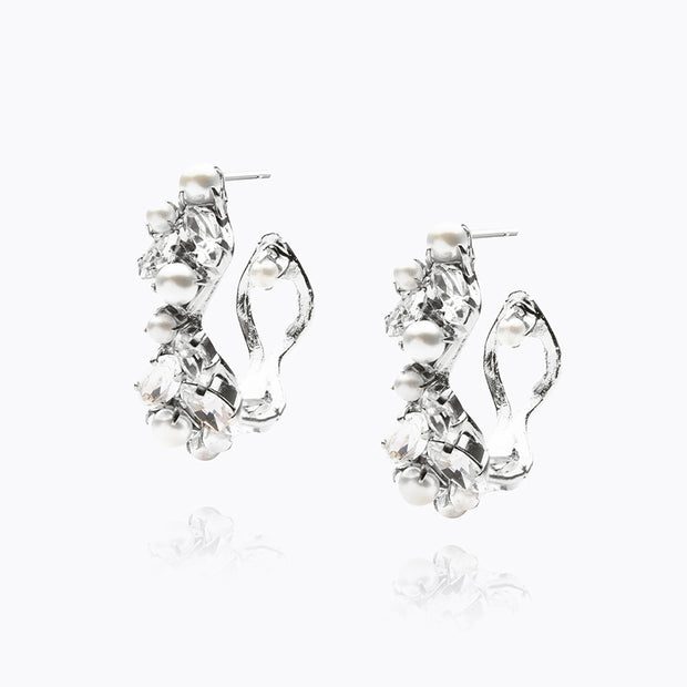 Caroline Svedbom - so In Love Earring Crystal Rhodium