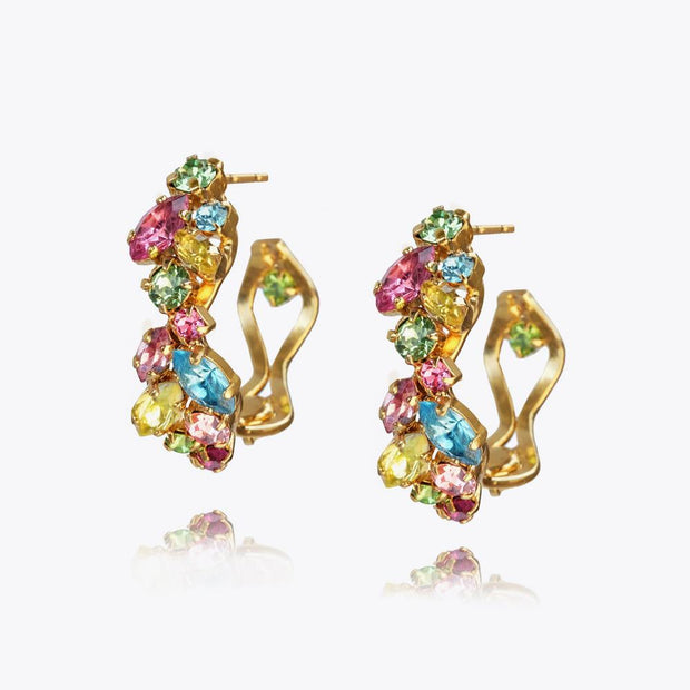 Caroline Svedbom - Stella Earrings Rainbow Combo Gold