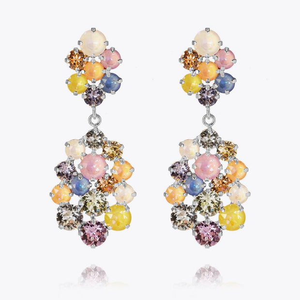 Caroline Svedbom - Celena Earrings Bonbon Combo Rhodium