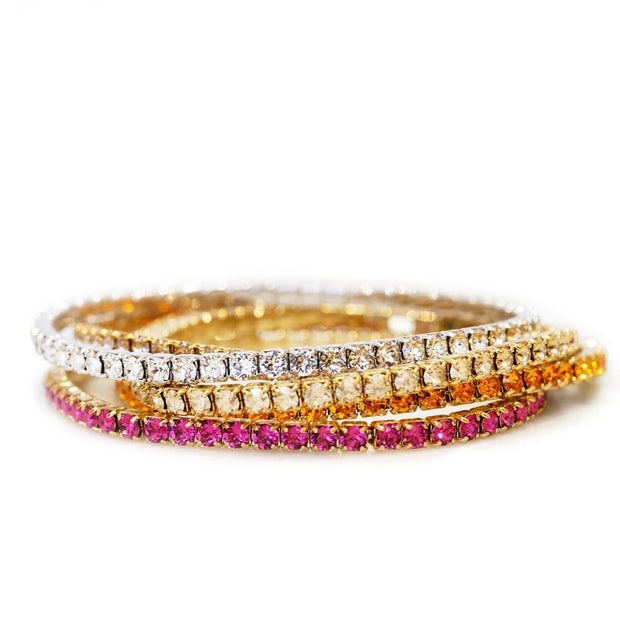 Eya Stretch Bracelet / Crystal