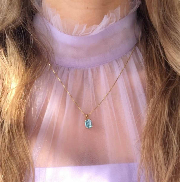 Lydia Necklace / Aquamarine