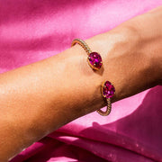 Mini Drop Bracelet / Fuchsia