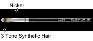 W611 - Concealer Brush - Three Tone Synthetic Hair (50% Off)