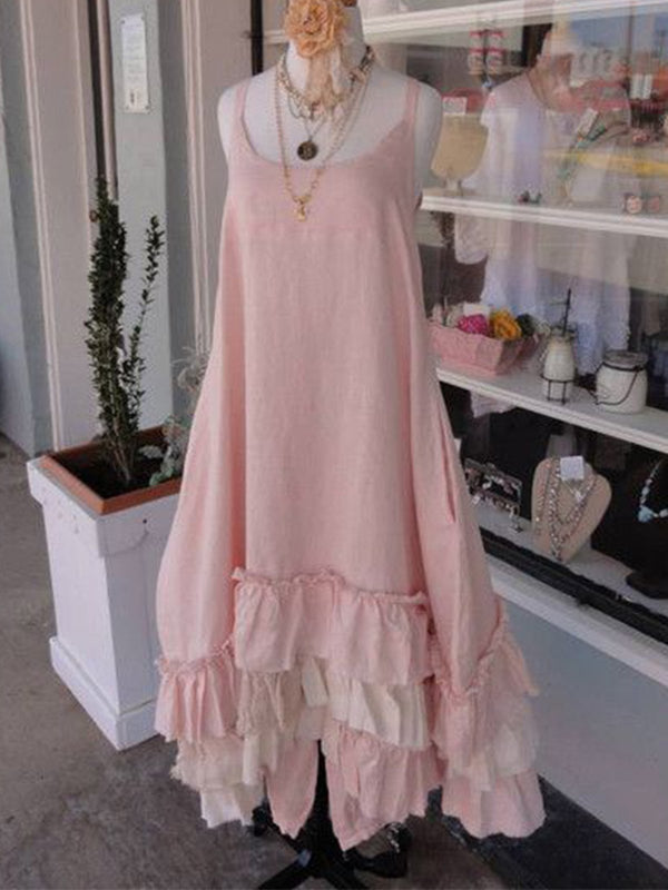 Pink Casual Cotton Dresses