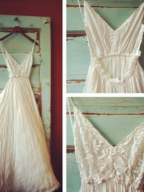 Beige strap Wedding Beautiful dress