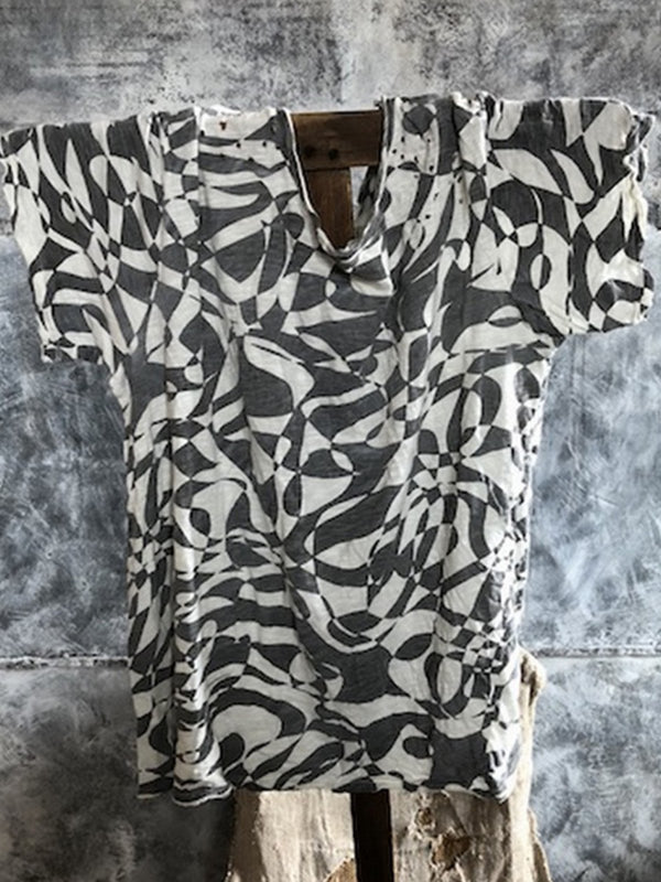 Women Casual Printed Tops Tunic T Shirt Tee