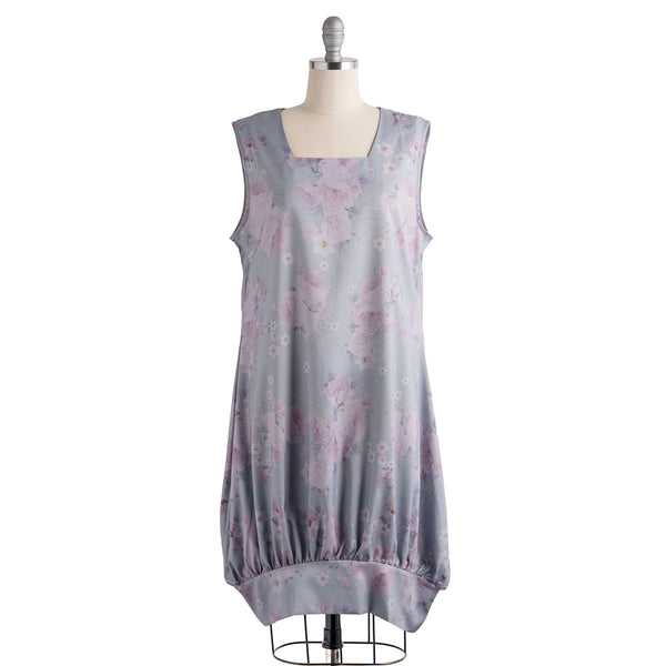 Light Gray A-Line Sleeveless Cotton-Blend Dresses