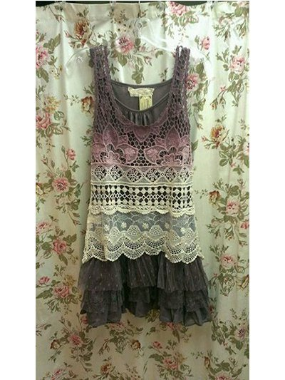 Hollow  lace Casual dresses