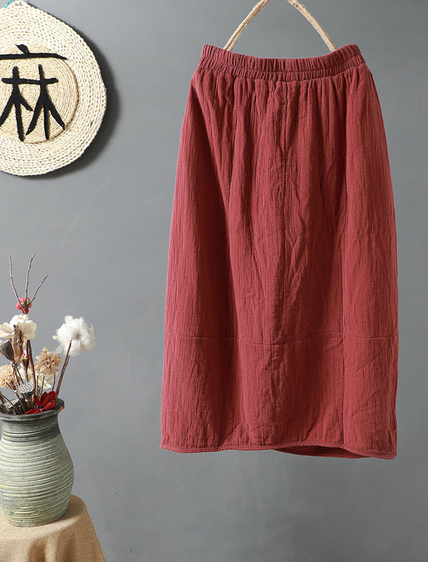 Women Solid Cotton Skirts