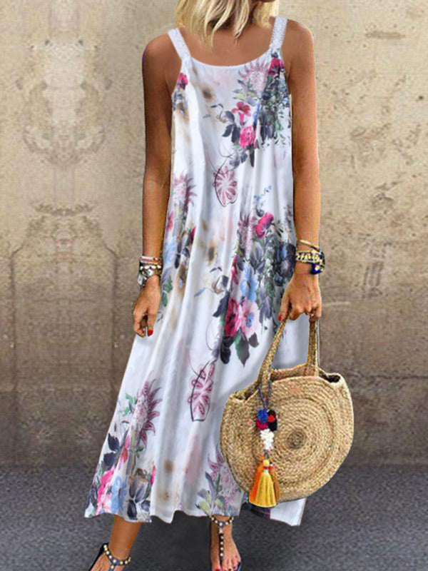 Floral Vintage Sleeveless Shift Dress