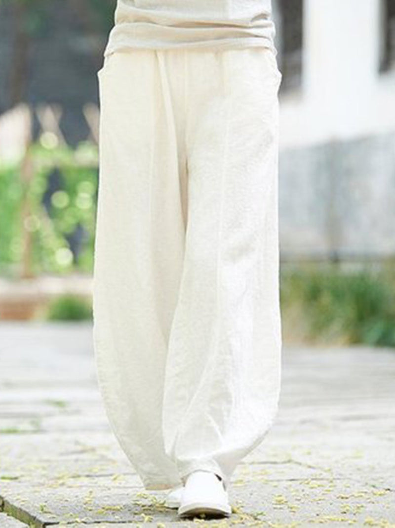 Casual Solid Pants Plus Size Loose Pants