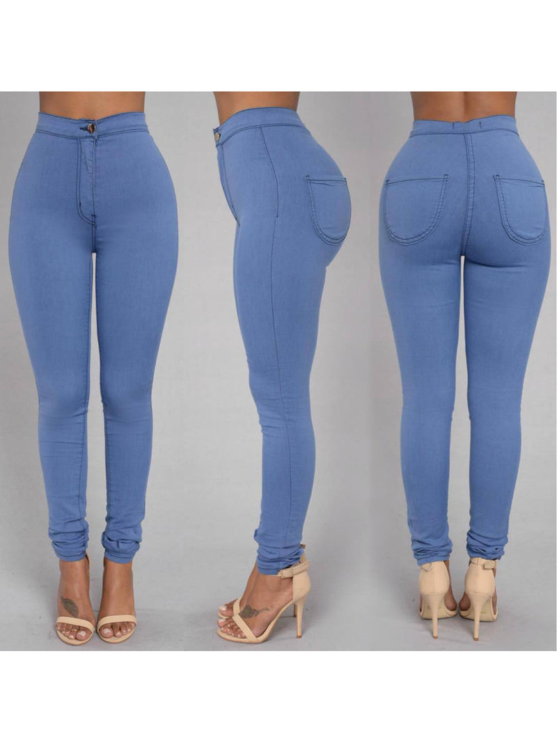 Solid Casual Skinny Legging Pants