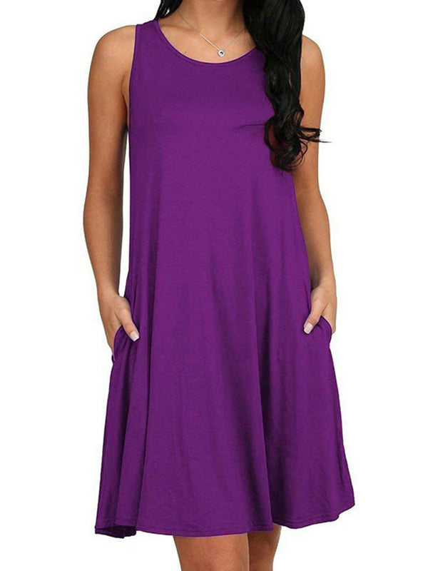 Women's Crew Neck Daily Plain Dresses