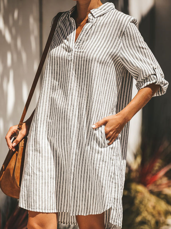 Striped Printed Long Tunic Dresses