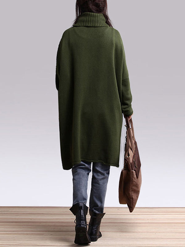 『Clearance Sale』Casual Turtleneck Asymmetrical Long Sleeve Sweater