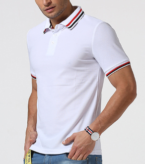 Men's Casual Lapels POLO Shirts Summer Comfort Short-sleeved Tops