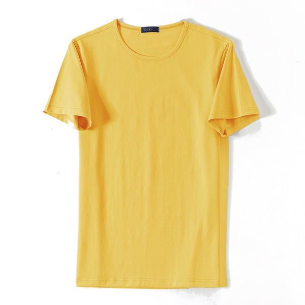 10 Colors Men's Round Neck T-Shirt Solid Color Short Sleeve Breathable T-Shirt