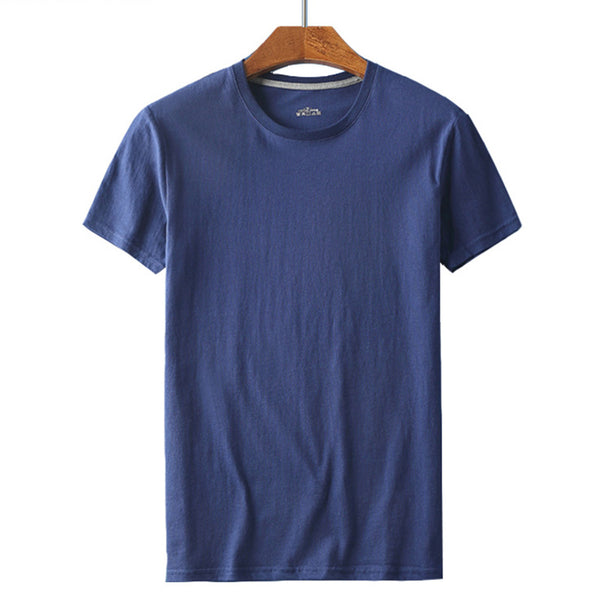 Men's Basic Short-sleeved T-shirt Solid Color Stretch Sweaty Casual T-shirt
