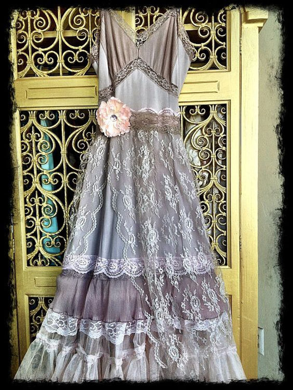 Women Purple Elegant Patchwork Dresses