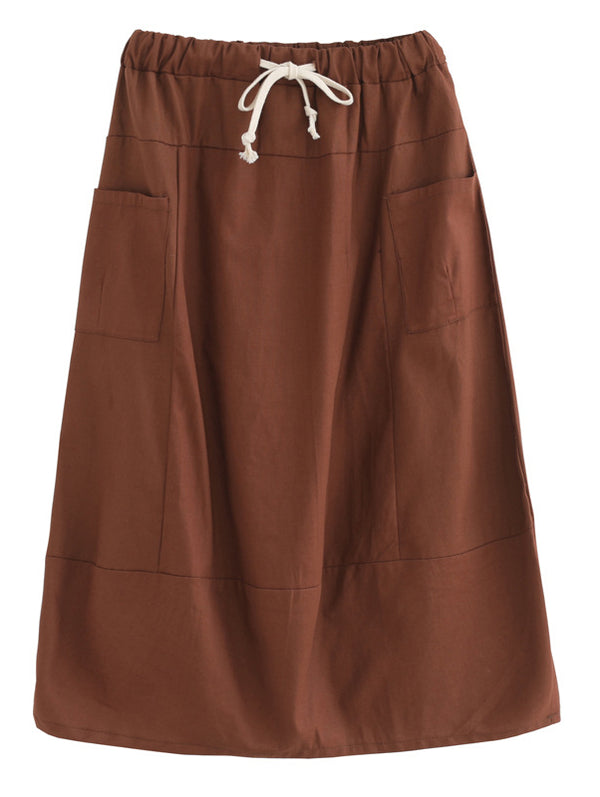 Women Solid Casual Skirts