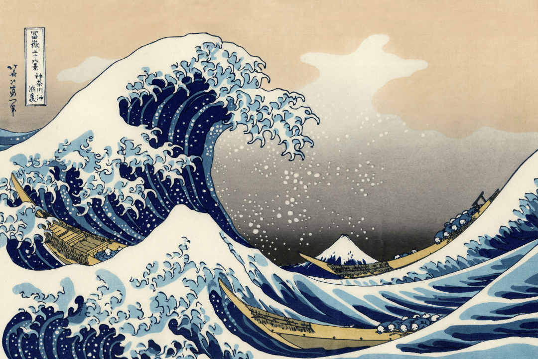 The Great Wave Off Kanagawa - by Hokusai (1830)