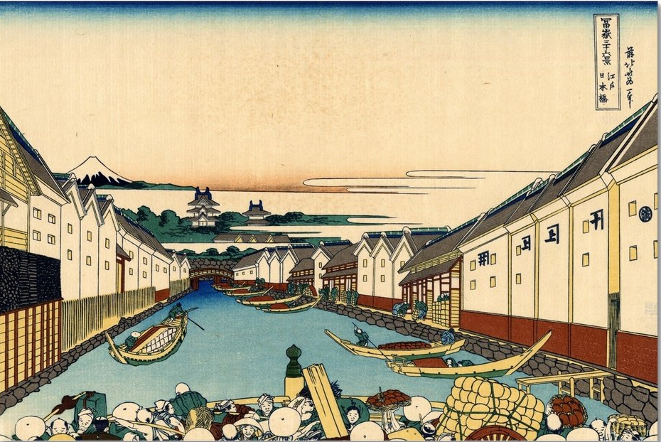 Travel to the Past With Hokusai's Nihonbashi Bridge in Edo