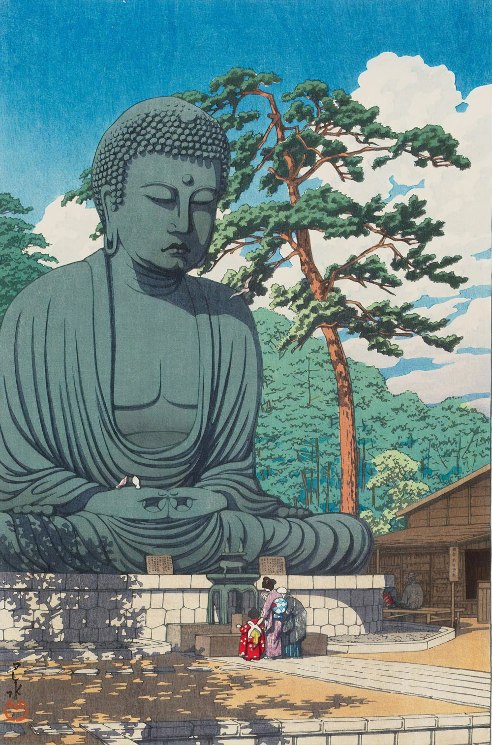 The Great Buddha At Kamakura (1930) By Kawase Hasui