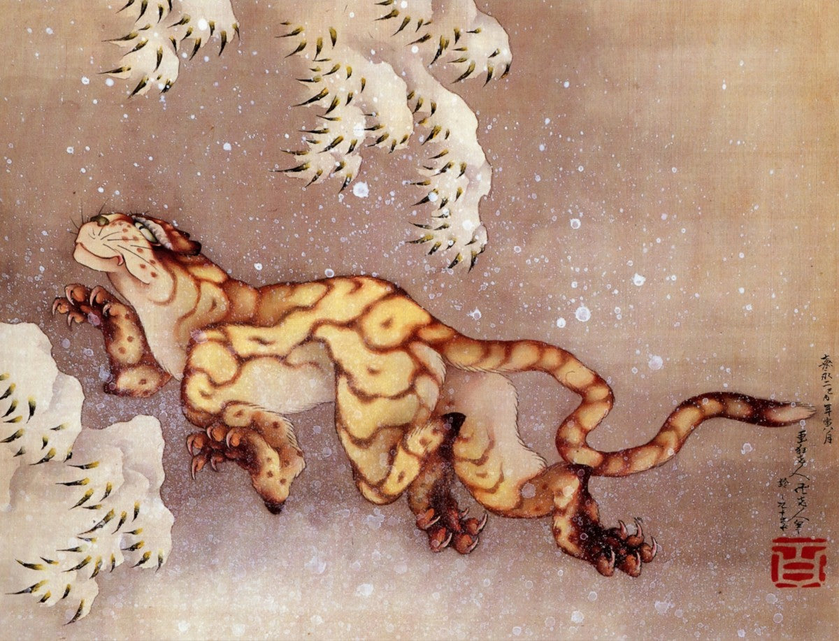 Old Tiger in Snow (1849)