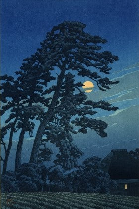 Moon at Magome - 1930 - Print by Kawase Hasui