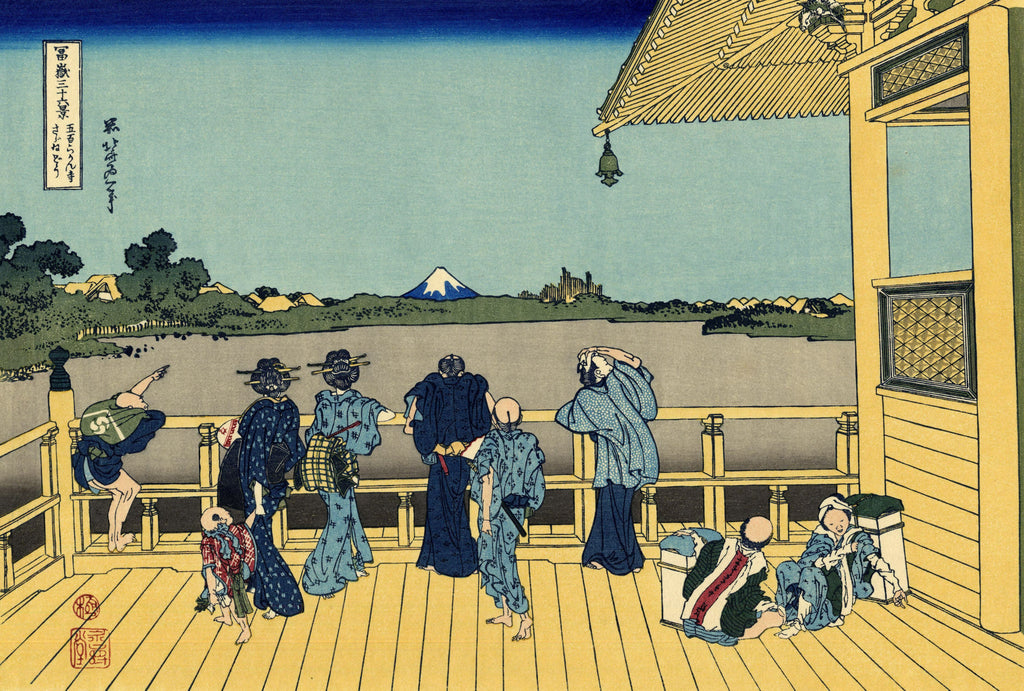 Sazai Hall - Temple of the 500 Rakan by Hokusai