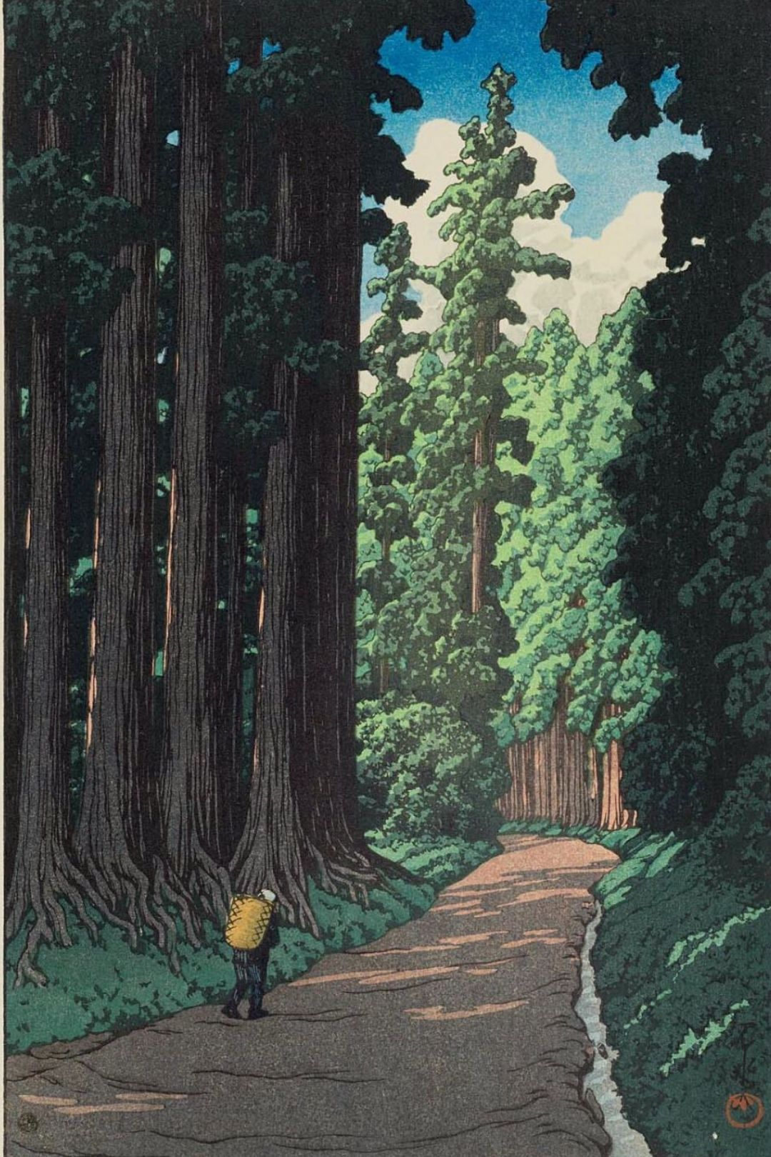The road to Nikko - by Kawase Hasui - Buy art print