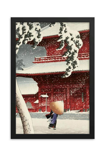 Buy Snow at Zojoji Temple by Kawase Hasui - fine art print, canvas and framed print