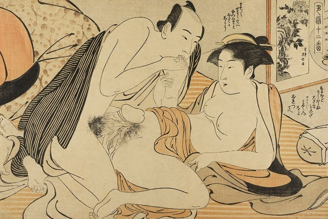 CLIENT AND GEISHA IN A BROTHEL (1784) - Kiyonaga